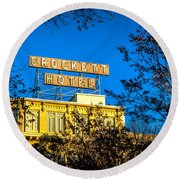 The Crockett Hotel Round Beach Towel