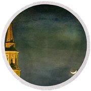 The Cross And The Crescent Round Beach Towel
