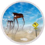 The Crossing 2 Round Beach Towel by Mike McGlothlen