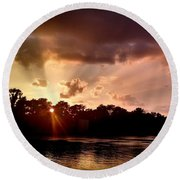 The Cumberland River Round Beach Towel by Chris Tarpening
