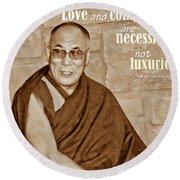 The Dalai Lama Round Beach Towel