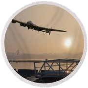 The Dambusters - Last One Home Round Beach Towel by Gary Eason