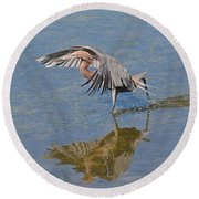 Round Beach Towel featuring the photograph The Dance by Carol  Bradley