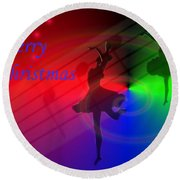 The Dance - Merry Christmas Round Beach Towel