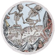 The Dance Of Death Round Beach Towel