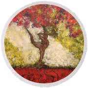The Dancer Series 7 Round Beach Towel
