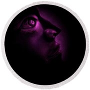 The Darkest Hour - Magenta Round Beach Towel