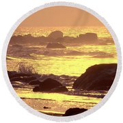 The Dawn Is Breaking  Round Beach Towel