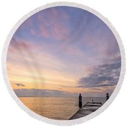 The Dawn Of A New Age Round Beach Towel