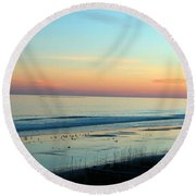 The Day Ends Round Beach Towel