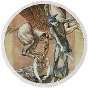 The Death Of Medusa I, C.1876 Round Beach Towel by Sir Edward Coley Burne-Jones