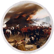 The Defence Of Rorke's Drift 1879 Round Beach Towel by Mountain Dreams