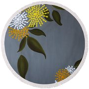 The Delicacy Of Life Round Beach Towel
