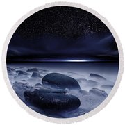 The Depths Of Forever Round Beach Towel