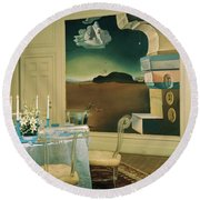 The Dining Room Of Princess Gourielli Round Beach Towel