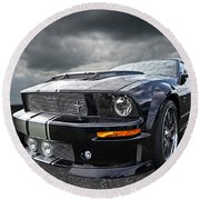 The Dominator - Cervini Mustang Round Beach Towel