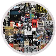 The Doors Collage Round Beach Towel