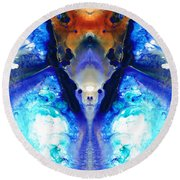 The Dragon - Visionary Art By Sharon Cummings Round Beach Towel by Sharon Cummings