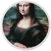 The Dream Of The Mona Lisa Round Beach Towel