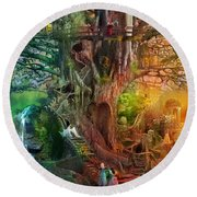 The Dreaming Tree Round Beach Towel