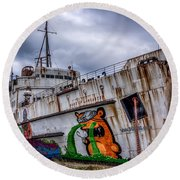 The Duke Of Lancaster Round Beach Towel