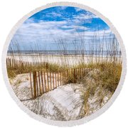 The Dunes Round Beach Towel by Debra and Dave Vanderlaan