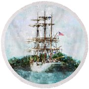 The Eagle Has Landed I Round Beach Towel