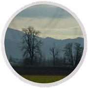 Round Beach Towel featuring the photograph The Eagle Tree by Eti Reid