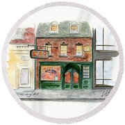 The Ear Inn Round Beach Towel