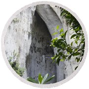 The Ear Of Dionysius Round Beach Towel