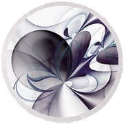 The Easiness Round Beach Towel
