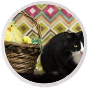The Easter Tiggy Round Beach Towel by Nick Kirby