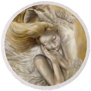 The Ecstasy Of Angels Round Beach Towel