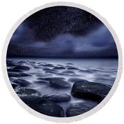 The Edge Of Forever Round Beach Towel
