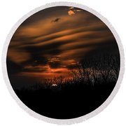The Edge Of Night Round Beach Towel