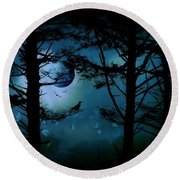 The Edge Of Twilight  Round Beach Towel by Micki Findlay