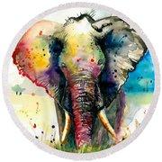 The Rainbow Elephant - Xxl Format Round Beach Towel