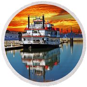 The End Of A Beautiful Day In The San Francisco Bay Round Beach Towel