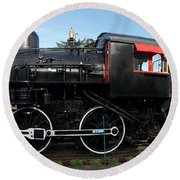 The Engine Round Beach Towel by Richard J Cassato