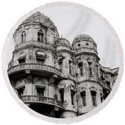 The Esplanade Mansions Round Beach Towel