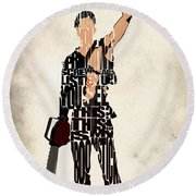 The Evil Dead - Bruce Campbell Round Beach Towel by Ayse Deniz