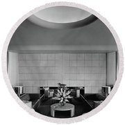 The Executive Lounge At The Ford Exposition Round Beach Towel
