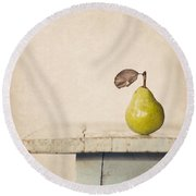 The Exhibitionist Round Beach Towel