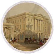 The Exterior Of Apsley House, 1853 Round Beach Towel by English School