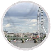 Round Beach Towel featuring the photograph The Eye Of London by Keith Armstrong