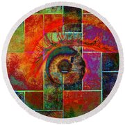 The Eye Round Beach Towel