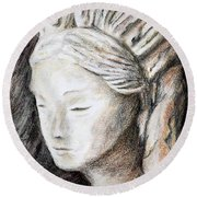 The Face Of Quan Yin Round Beach Towel
