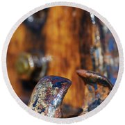 Round Beach Towel featuring the photograph The Fairlead by Wendy Wilton