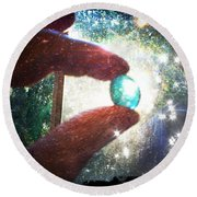 Round Beach Towel featuring the photograph The Fairy Stone - Nature Angel  by Absinthe Art By Michelle LeAnn Scott