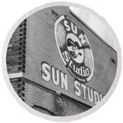 The Famous Sun Studio In Memphis Tennessee Round Beach Towel